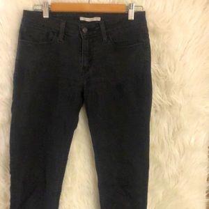 Levi's 535 Super Skinny Black Jeans